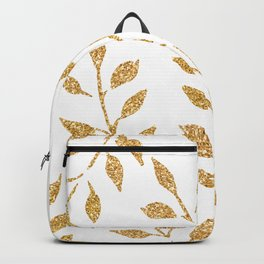 Gold Glitter Fronds Backpack