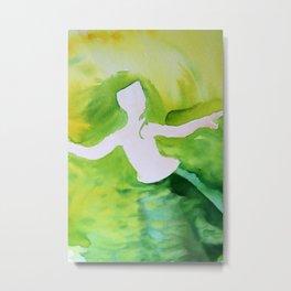 Green Woman Metal Print