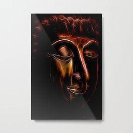 Buddha Face three Metal Print