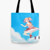 madoka Tote Bags featuring Madoka by Homicon