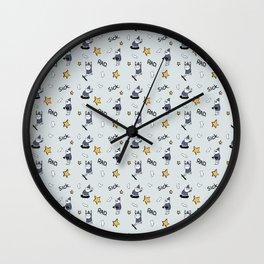 Sick wizards grey Wall Clock