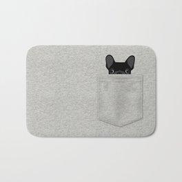 Pocket French Bulldog - Black Bath Mat