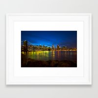 brooklyn bridge Framed Art Prints featuring Brooklyn Bridge by Svetlana Sewell
