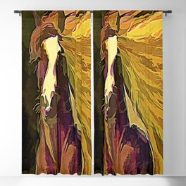 Running Horse Blackout Curtain