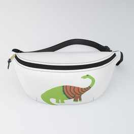 Brontosaurus in a Sweater Fanny Pack