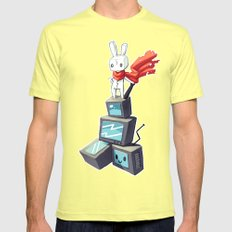 King Of The Hill LARGE Mens Fitted Tee Lemon