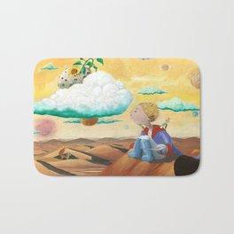 Little Prince with sunflower Bath Mat