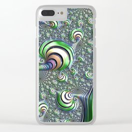 Colorful Spiral Clear iPhone Case
