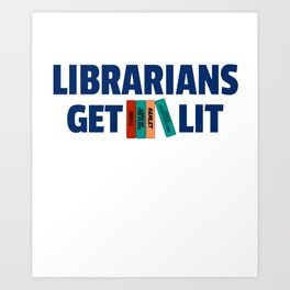 Librarians Get Lit with Classic Books Art Print