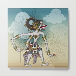 Modification of the puppet characters Hanuman white monkey in the story of the Ramayana Metal Print