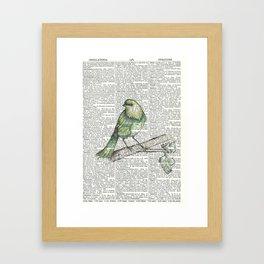 Green Is Cool Framed Art Print