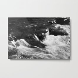 Water Cascading Metal Print