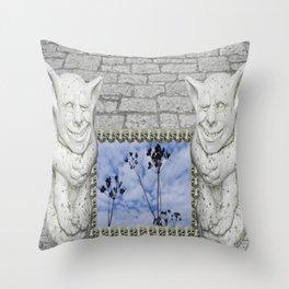 Two Gargoyles  Throw Pillow