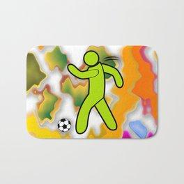 Soccer Player Icon Bath Mat
