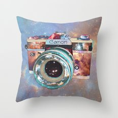 SPACE CAN0N Throw Pillow
