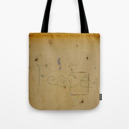 Peace Grafitti Tote Bag