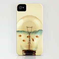 gold fish globe iPhone (4, 4s) Slim Case