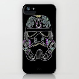 Day of the dead Storm Trooper head iPhone Case