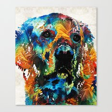 Colorful Dog Art - Heart And Soul - By Sharon Cummings Canvas Print