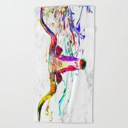Longhorn Grunge Beach Towel
