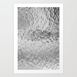 Clear Water (Black and White) Art Print