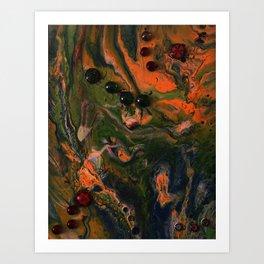 Orange Plasma Art Print