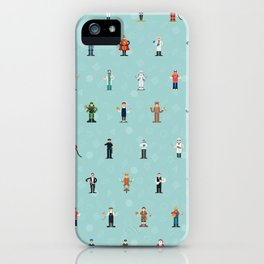 Mixjam characters pattern iPhone Case