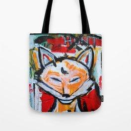 Happy Fox - The Hunt - Original Painting - Marina Taliera Tote Bag