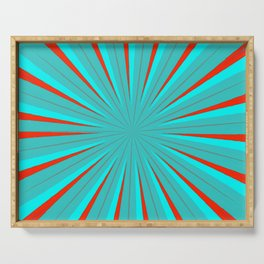Sparkle Neon Aqua Turquoise Red Serving Tray