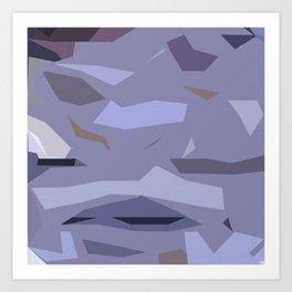 Fragmented Violet Art Print