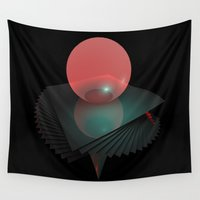 gravity Wall Tapestries featuring Gravity Layers by Obvious Warrior