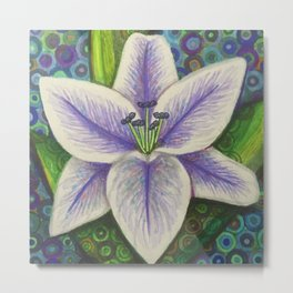 Stargazer Lily in the Lilac Verse Metal Print