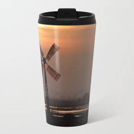 Dreamland windmill from ancient times in a wide landscape Travel Mug