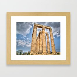 Temple of Zues Framed Art Print