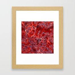 Marble Ruby Sapphire Violet Framed Art Print