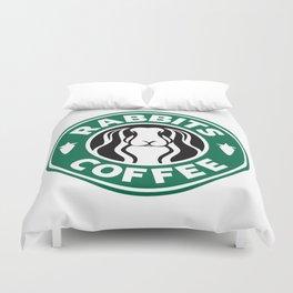 RABBITS COFFEE Duvet Cover