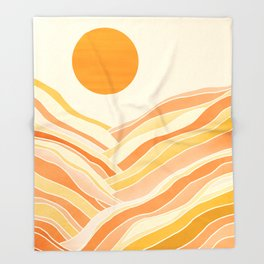 Golden Mountain Sunset Throw Blanket