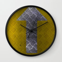 Industrial Arrow Tread Plate - Up Wall Clock