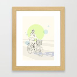 Bike ride (three) Framed Art Print