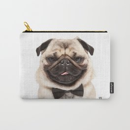 Helmut the Pug - Bow Tie Carry-All Pouch