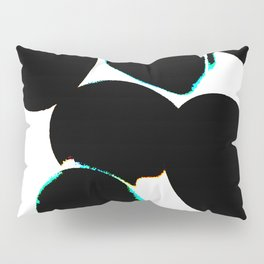 eggs, b&w abstract with a bit of color Pillow Sham