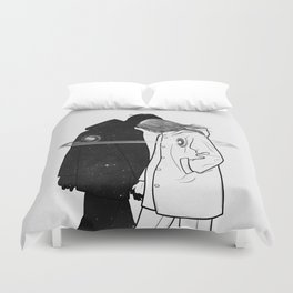 Lost and found. Duvet Cover