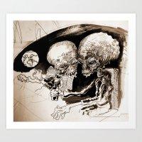 Moonheads from Mars.  Art Print