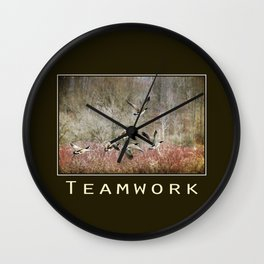 Inspiring Teamwork Wall Clock
