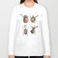 pop Long Sleeve T-shirts featuring Meet the Beetles by Eric Fan