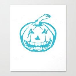 Teal Pumpkin I Like My Pumpkins Teal Canvas Print
