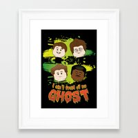 ghost busters Framed Art Prints featuring Lego Busters by plopezjr