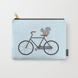 Squirrel Riding Bike Carry-All Pouch