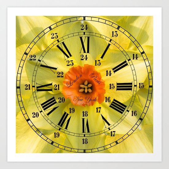 The Power of Petals 2...The Clock! Art Print