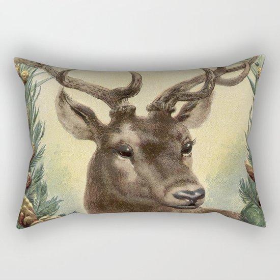 Retro Deer Rectangular Pillow
